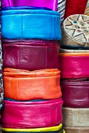 Chez Khayati shop, in Marrakech. Leather and design