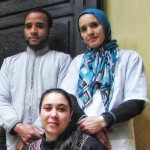 Jana, Simo and Fatima. Riad Aguaviva team.