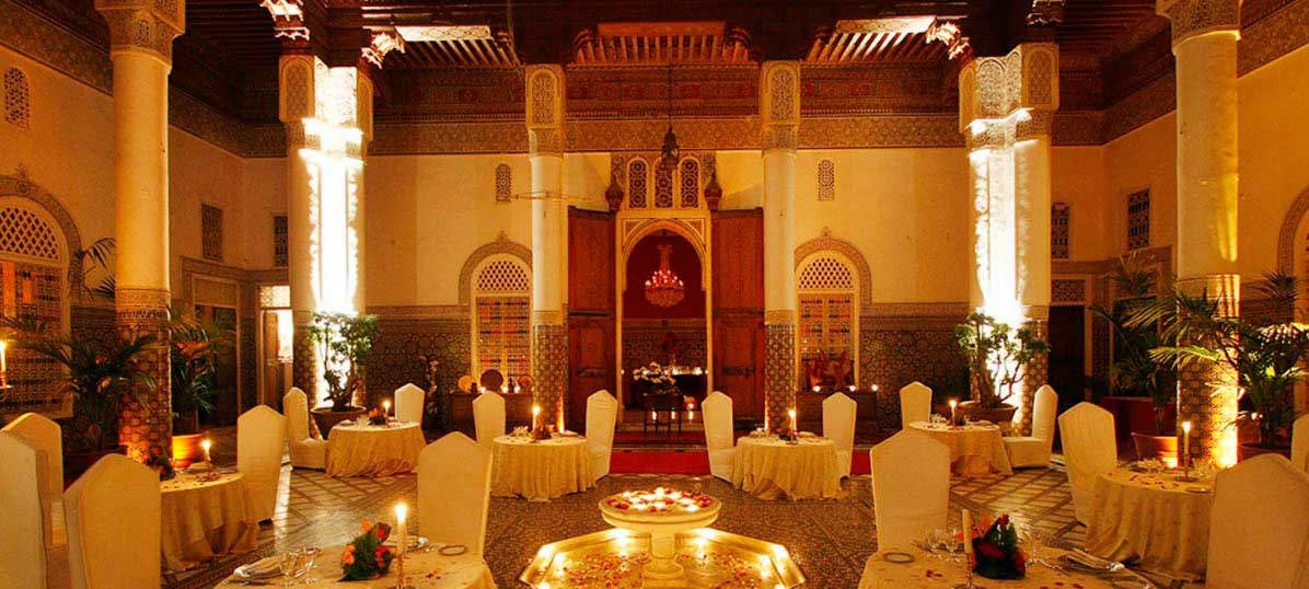 Palais Soleiman is located in Marrakech. It´s into a old palace of the city. Moroccan cuisine