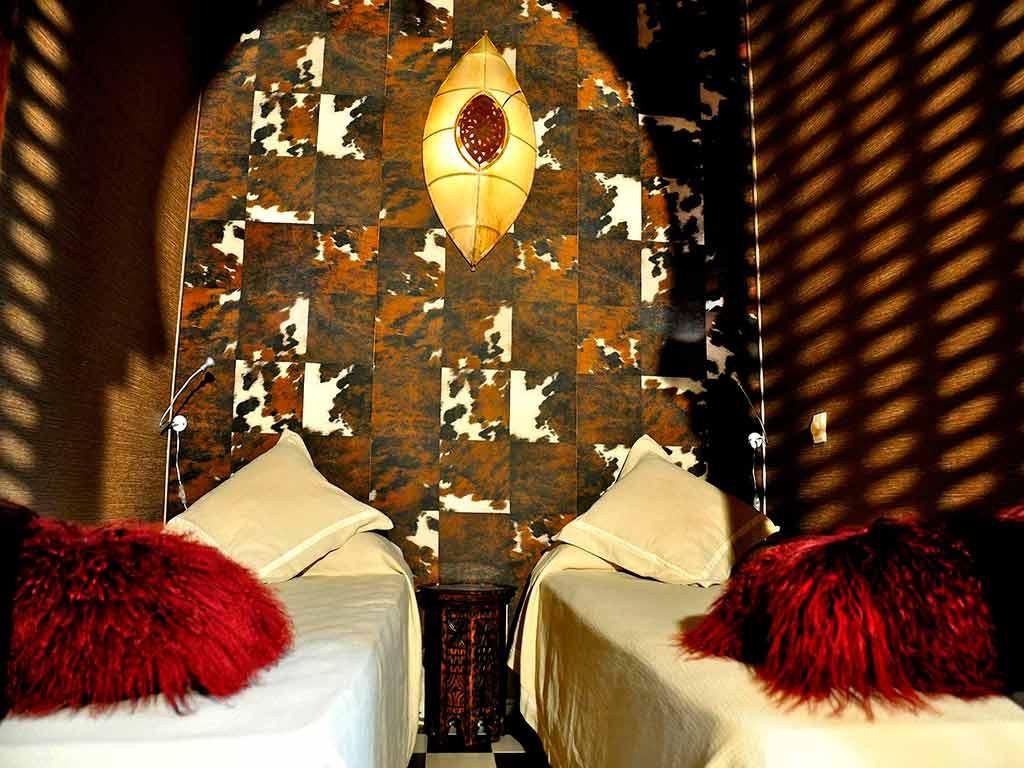 Africa room. Riad Aguaviva, hotel boutique.