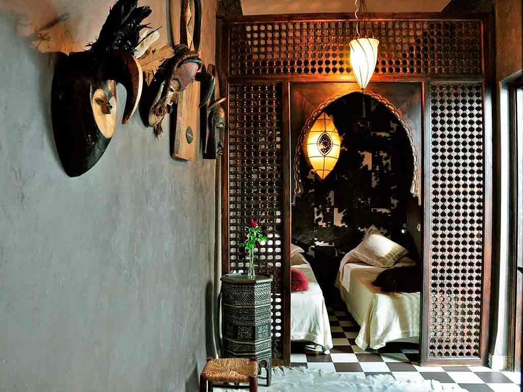 View of Africa room. Riad Aguaviva. Marrakech.