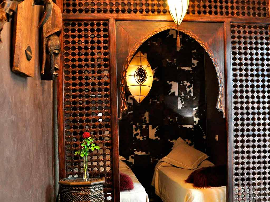 Africa room in Riad Aguaviva, Marrakech, Morocco.