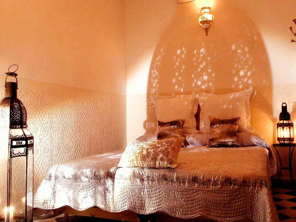 Alhambra room by night. Riad Aguaviva
