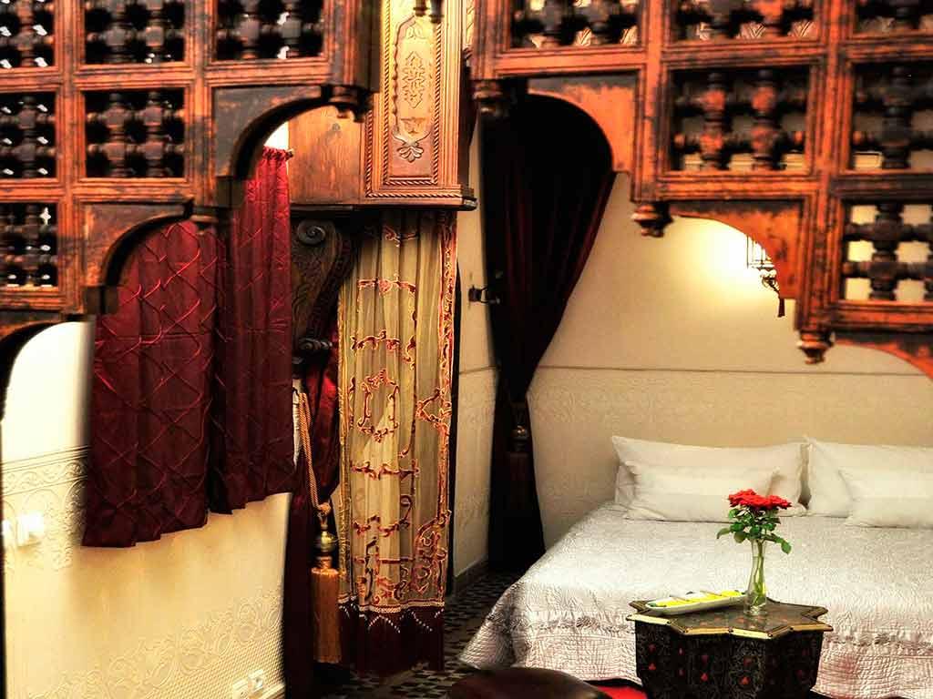 Alhambra room in Riad Aguaviva