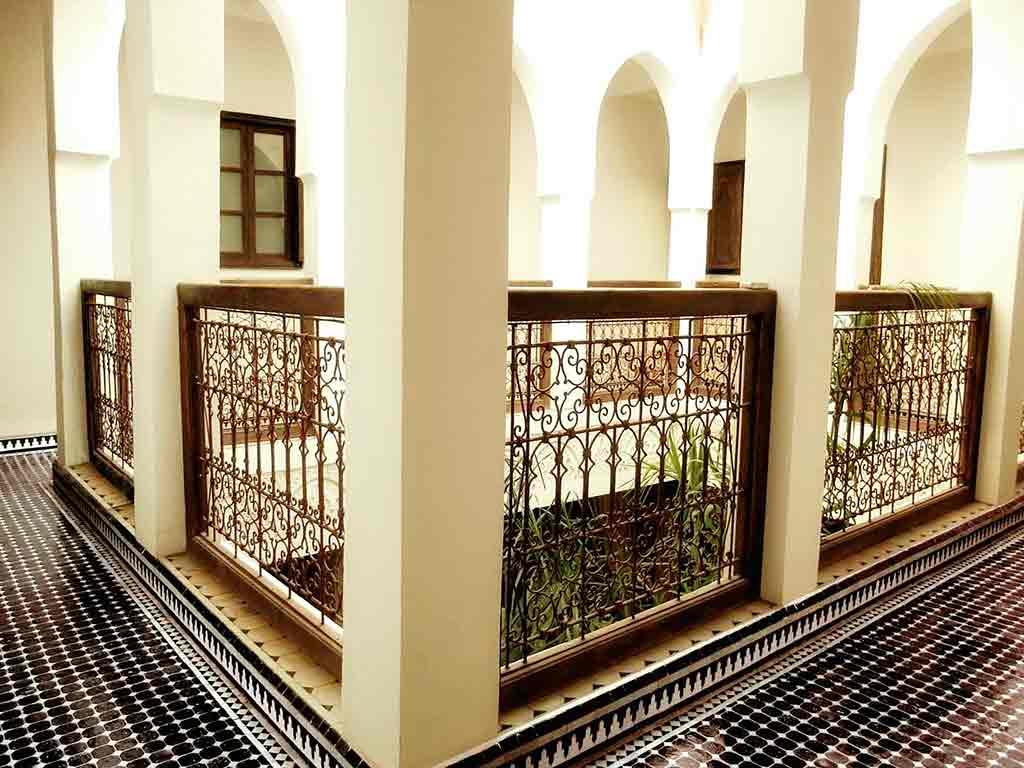 Riad Aguaviva view. Archs.