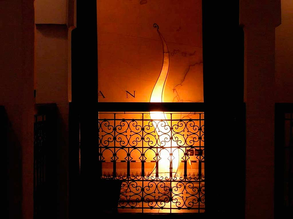 lamp in Riad Aguaviva. Marrakech