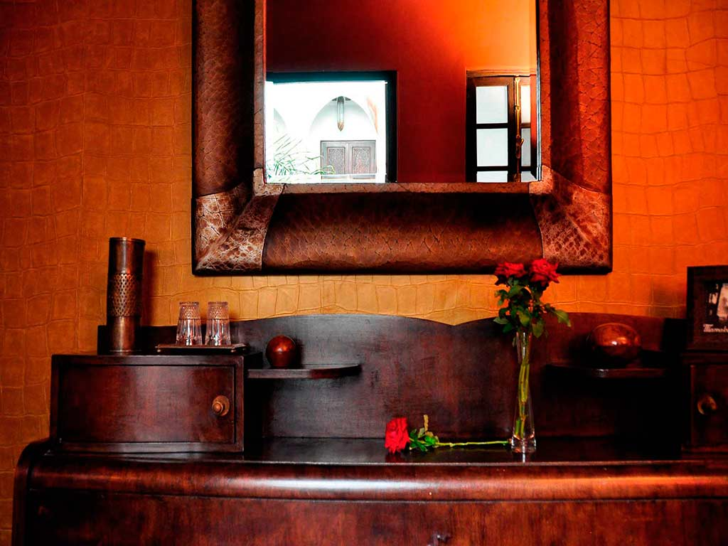 Sultan room. Boutique hotel. Riad Aguaviva, Marrakech, Morocco.