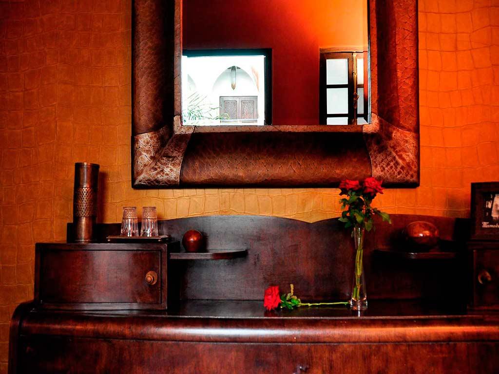Sultan room. Boutique hotel. Riad Aguaviva, Marrakech, Morocco.