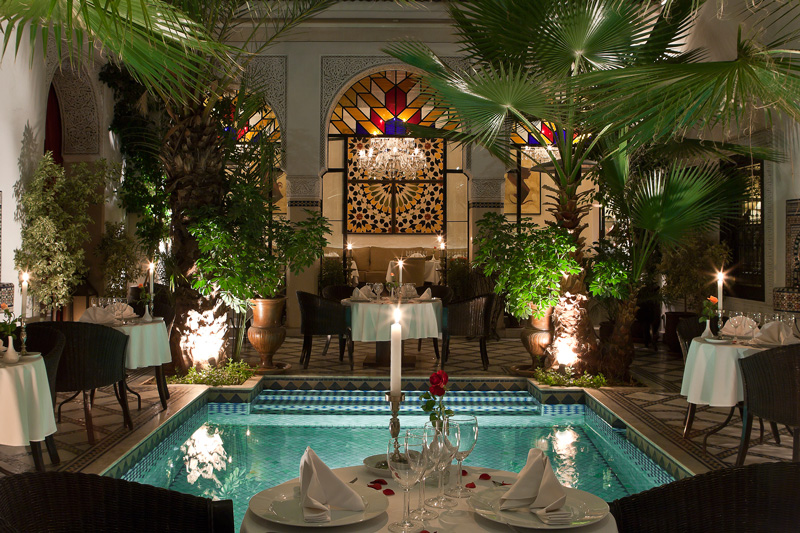 Riad Monceau is a old riad with restaurant in Marrakech