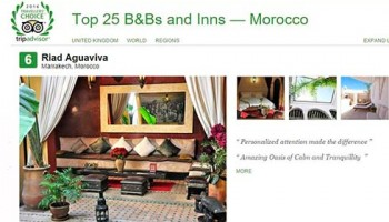 6 Tripadvisor winner Top B&B Morocco. Riad Aguaviva, Marrakech