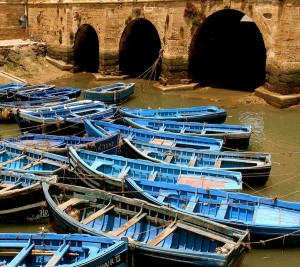 Essaouira port. Boats.
