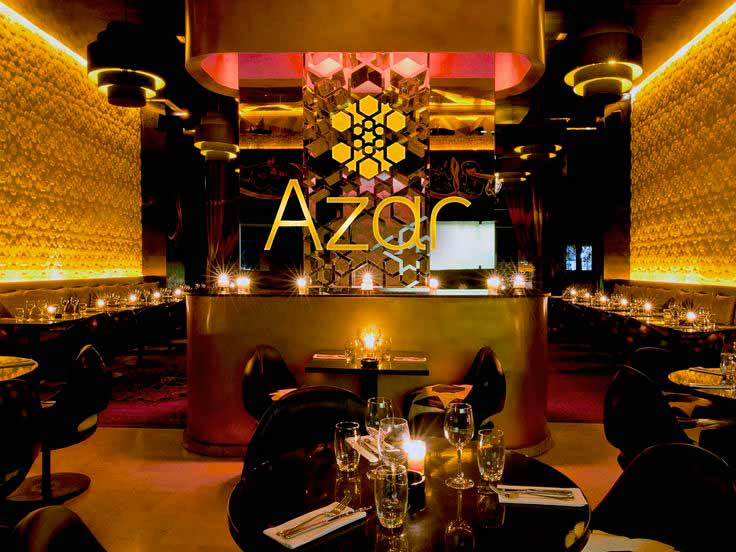Azar restaurant is located in Marrakech. Moroccan cuisine, medium prices. Show and life music in Marrakech´s nightlife