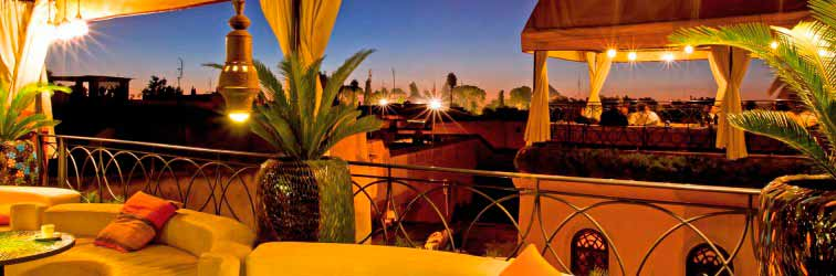 Cafe Arabe is a restaurant in the medina of Marrakech, Moroccan and Italian cuisine