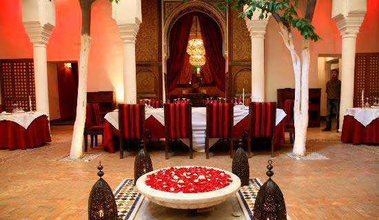 Dar Zelij restaurant is located in Marrakech medina. High Moroccan Cuisine