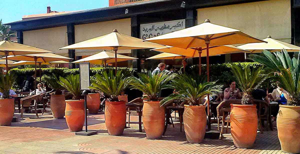 Grand Cafe de la Poste is a restaurant in Gueliz area, Marrakech