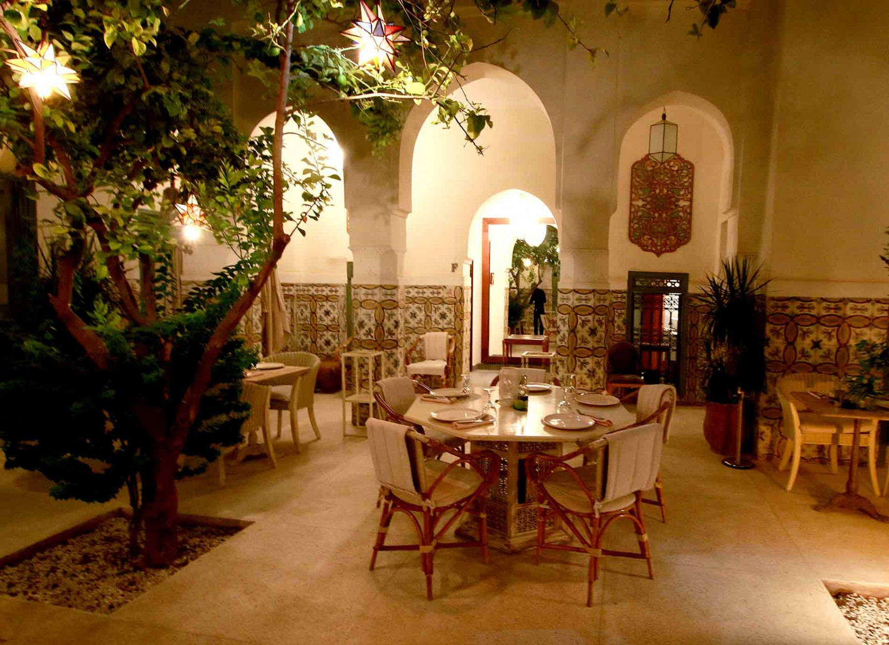 I Limoni restaurant in Marrakech. Italian and Moroccan food