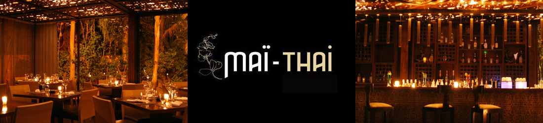 Mai Thai restaurant, Thai cuisine in Hivernage area, Marrakech.