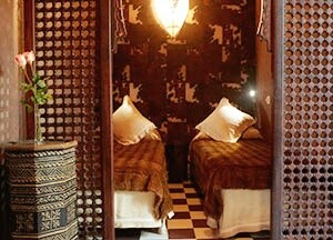 Africa room detail. Riad Aguaviva hotel boutique. Marrakech