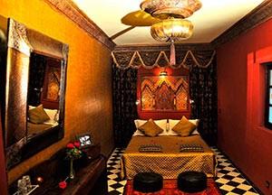 Sultan room in riad Aguaviva, Marrakech