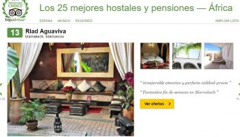 Riad Aguaviva it´s 13 position of bed and breakfast in Africa (Tripadvisor)