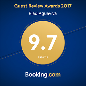 Booking Awards 2017 to Riad Aguaviva